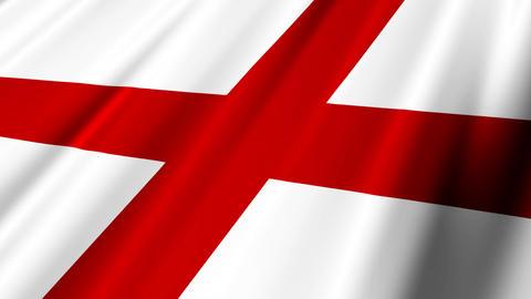 EnglandFlagLoop02 Stock Video Footage