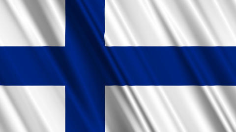 FinlandFlagLoop01 Stock Video Footage