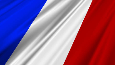 FranceFlag02 Stock Video Footage