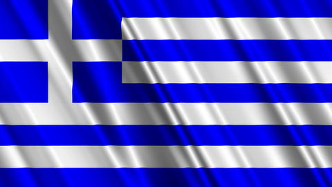 GreeceFlag01 Stock Video Footage