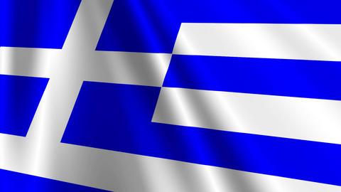 GreeceFlag03 Stock Video Footage