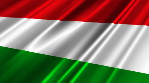 HungaryFlagLoop02 Stock Video Footage