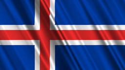 IcelandFlagLoop01 Stock Video Footage