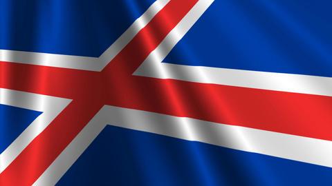 IcelandFlagLoop03 Stock Video Footage