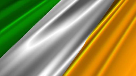 IrelandFlagLoop02 Stock Video Footage