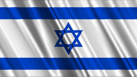 IsraelFlagLoop01 Stock Video Footage