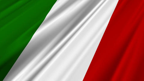 ItalyFlag02 Stock Video Footage