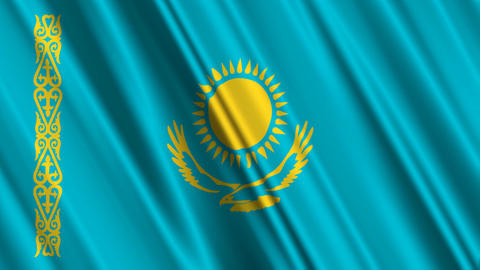 KazakhstanFlagLoop01 Animation
