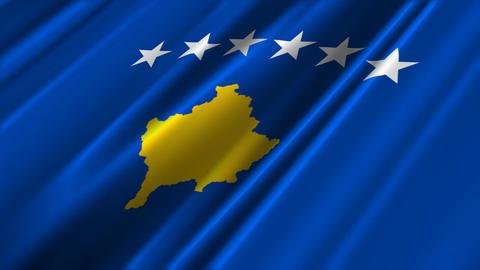 KosovoFlagLoop02 Stock Video Footage