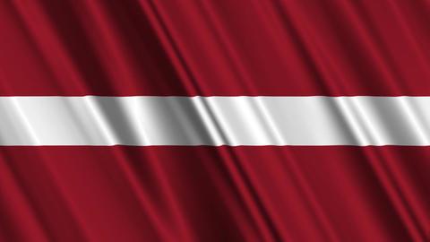 LatviaFlagLoop01 Stock Video Footage