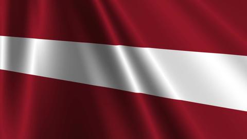LatviaFlagLoop03 Stock Video Footage