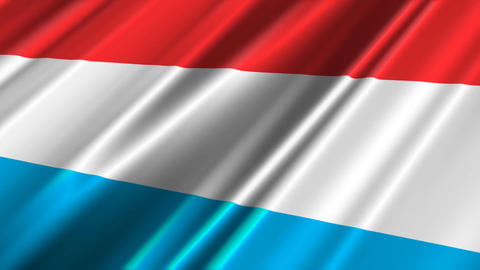 LuxembourgFlagLoop02 Stock Video Footage