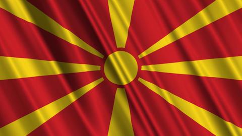 MacedoniaFlagLoop01 Stock Video Footage