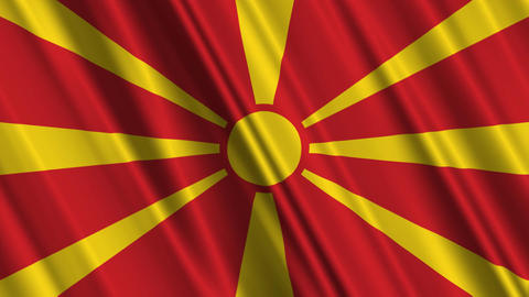 MacedoniaFlagLoop01 Stock Video Footage