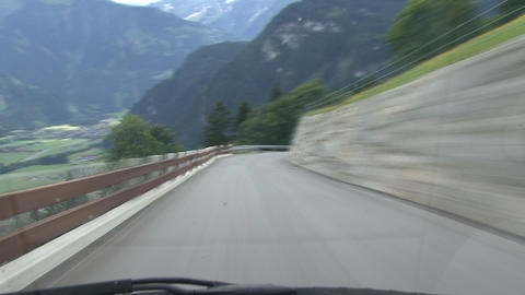 timelapse highspeed downhill drive truck Stock Video Footage
