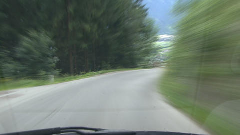 timelapse highspeed downhill drive truck Footage