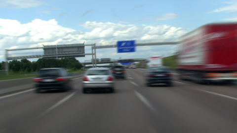 timelapse highspeed highway drive 2 Stock Video Footage