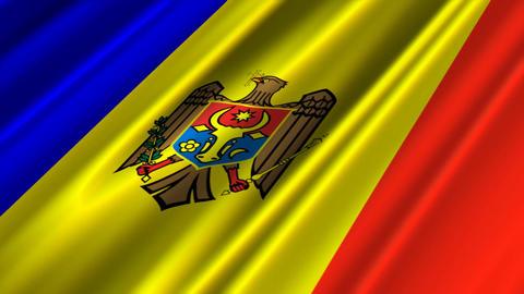 MoldovaFlagLoop02 Stock Video Footage