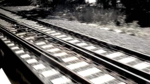 On the train Stock Video Footage