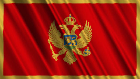 MontenegroFlagLoop01 Stock Video Footage