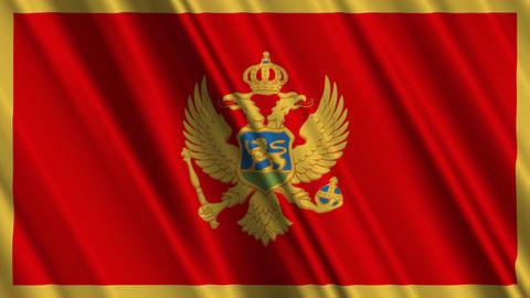MontenegroFlagLoop01 Stock Video Footage