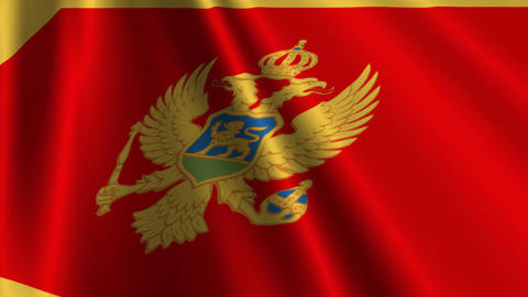 MontenegroFlagLoop03 Stock Video Footage