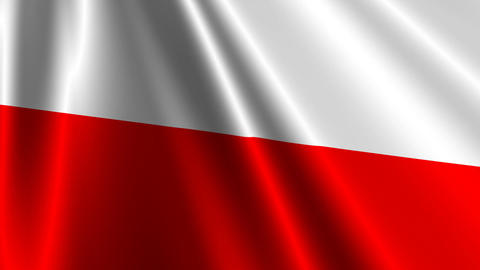 PolandFlagLoop03 Stock Video Footage