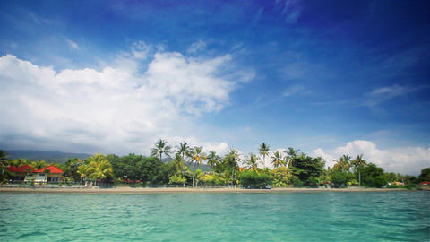Tropical beach (front) Stock Video Footage