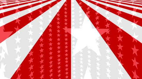 Stars stripes Animated Patriotic Background Loop Stock Video Footage