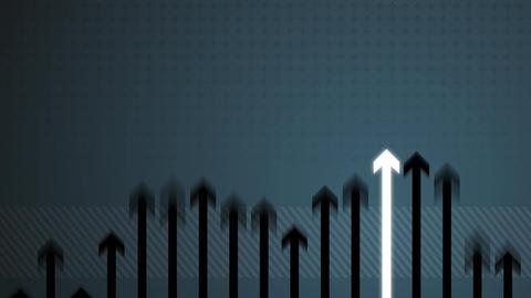 Arrow Growing on Blue HD Stock Video Footage