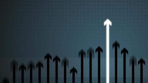 Arrow Growing on Blue HD Animation