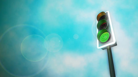 Traffic Lights HD Loop Stock Video Footage