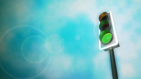 Traffic Lights HD Loop Animation