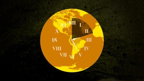 World Clock Face HD Stock Video Footage