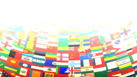World Flags HD Loop Animation