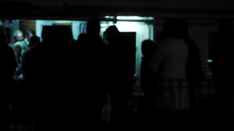 Passengers waiting to board ship Stock Video Footage
