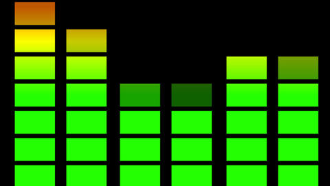 Audio equaliser animation Stock Video Footage
