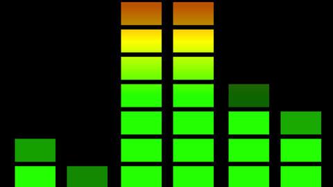 Audio equaliser animation Stock Video Footage