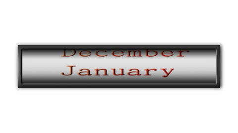 Loopable monthly calendar Stock Video Footage