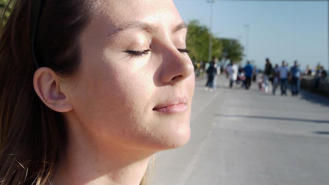 Young woman contemplating Stock Video Footage