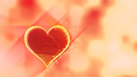 Love heart on red background - Emotion - Vallentines Stock Video Footage