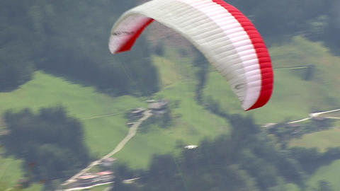 paraglider start 01 Stock Video Footage