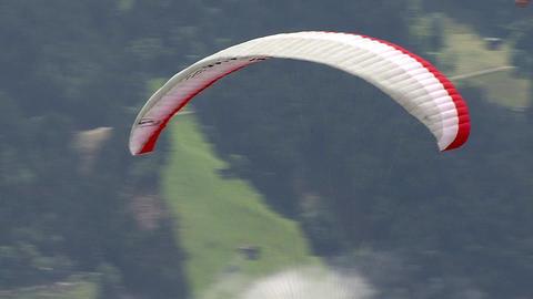paraglider start 01 Stock Video Footage