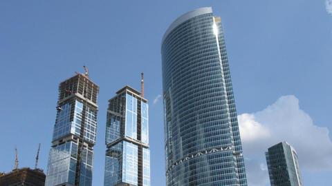 Skyscraper construction time lapse Stock Video Footage