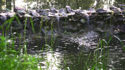 small waterfall 2 Stock Video Footage