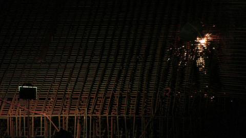 night welder Stock Video Footage