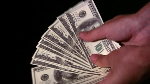 show dollars in hands Stock Video Footage