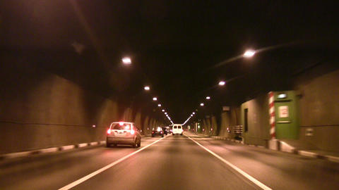 car tunnel Stock Video Footage