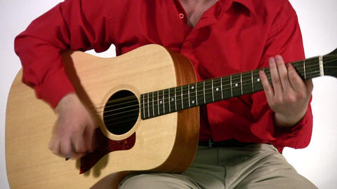 play on guitar Stock Video Footage