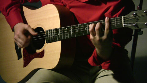 play on guitar in dark Stock Video Footage